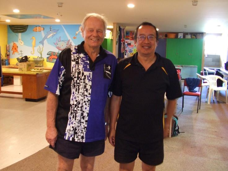 Dave Welch (Table tennis organiser) with Malcolm Wong