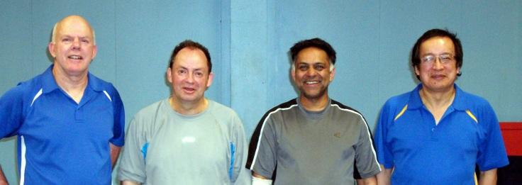 Ian Talbot, Lindsay Ward, Depak Patel and Malcolm Wong – all Titan Club Singles Champions