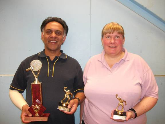 Doubles Winners Depak Patel and Raewyn Young