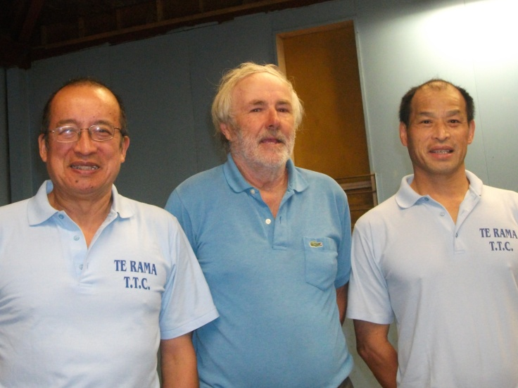 Te Rama's 1993 A Reserve Champion Team reunite after 20 years: Malcolm Wong, Brian Neale and Martin Young.