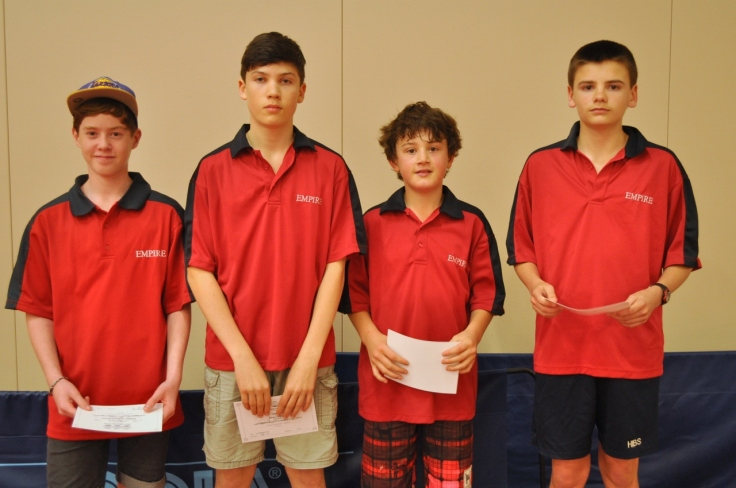 Empire Eagles, 2013 Division 3 Series 2 runners-up (William Molineux-Brown,  James Lobban, Jet Hogan, Olly Evans)