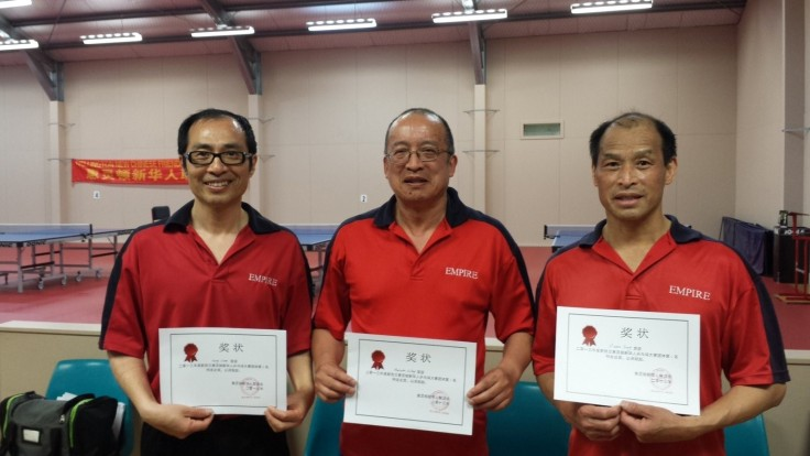 Joint Team Winners Red Dragon (Harry Chen, Malcolm Wong, Martin Young).
