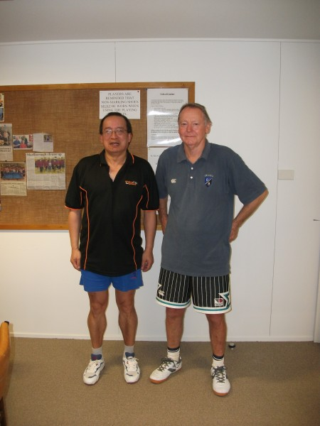 Nelson Over 50 Doubles winners Malcolm Wong and Mark Nalder.