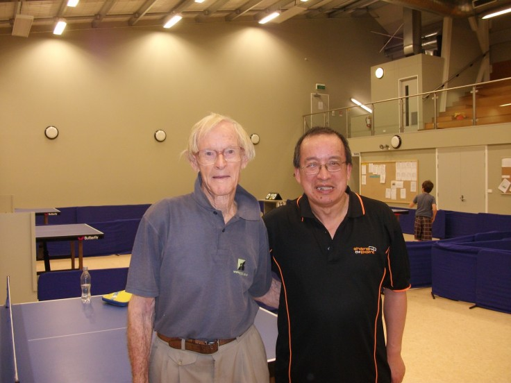 Lionel Wells with Malcolm Wong.