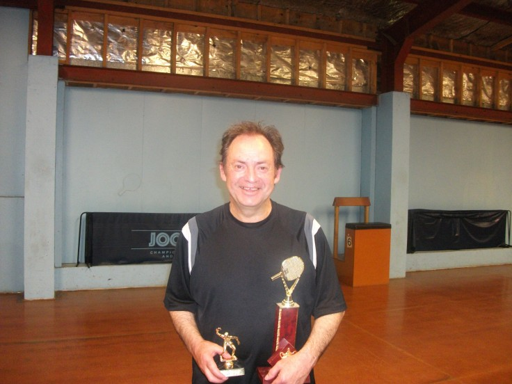 Titan Over 40 Singles Champion, Lindsay Ward, who also received the Gavin Dash Trophy for finishing runner up in the Men's Singles.