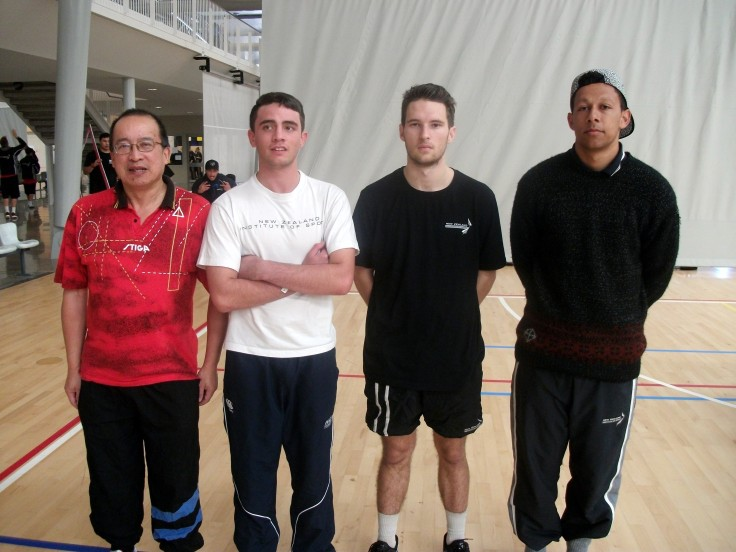 Malcolm Wong (Umpire) Luke Istead (Auckland), Keanu White (Wellington), and Andrew Storer (Christchurch).