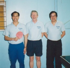 1991 A Reserve Grade Champions Te Rama. Martin Young, David Robinson and Malcolm Wong. (photo taken at the Te Rama Championships, 1999)