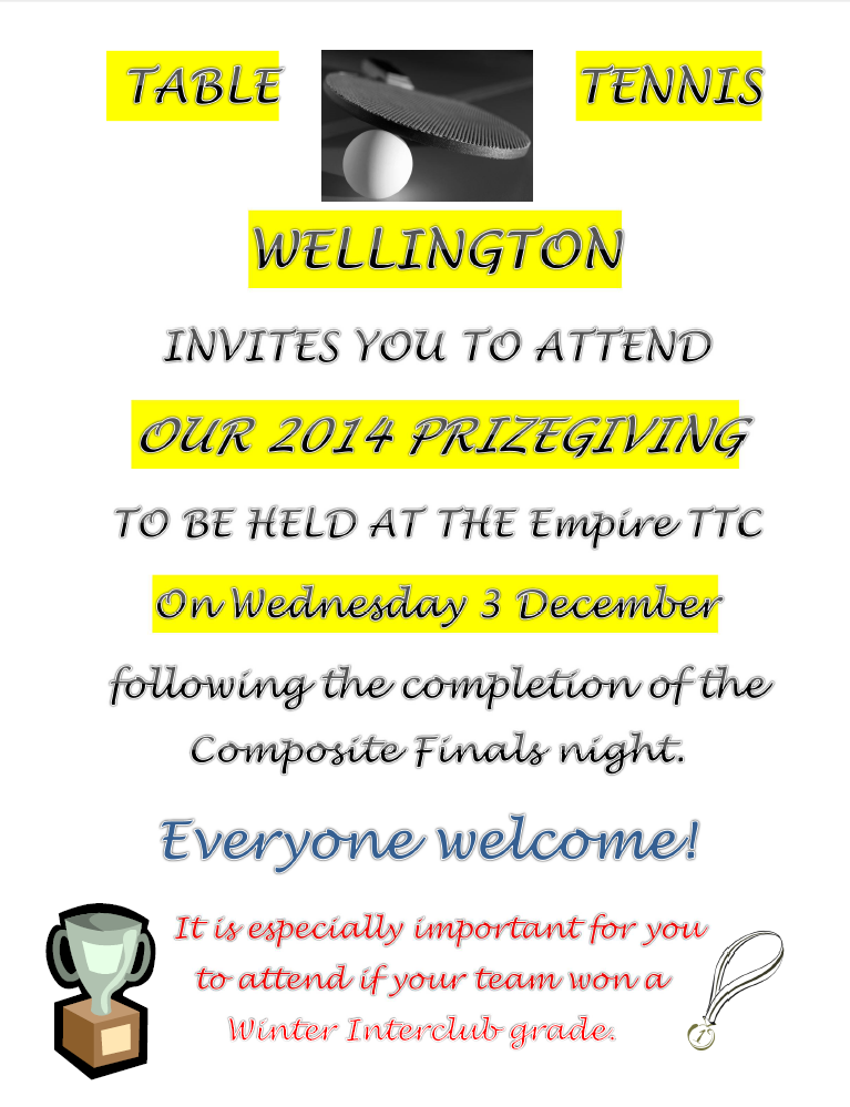 Table tennis wellington page 10 2014 prizegiving stopboris Choice Image