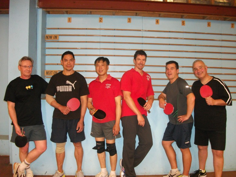 Gray Hodgkinson, Kung Tepp, William Tan, Ryan Cronin, Steve Montgomery and Tony Tziakis