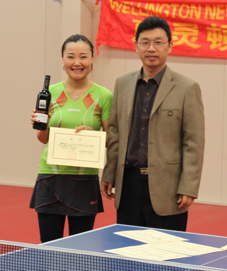 Catherine Zhou (Runner up in the Singles and Women Singles) and Stephen Wang