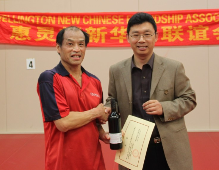 Martin Young (3rd place in Singles) and Stephen Wang