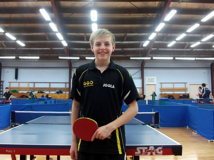 Sean Hanson - the hero of Wellington Men's 1 Team 4-3 win over North Harbour in A Grade. He won the deciding 7th match against Michael Zhang 3-1