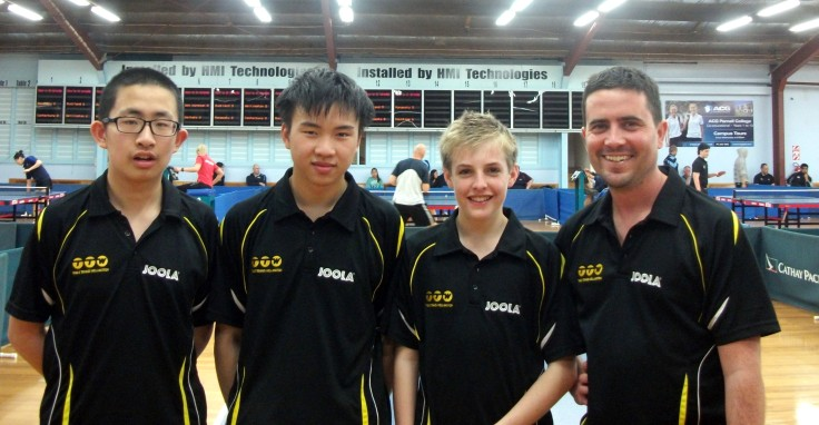 Wellington 1 Men's Team. Frank Fu, Chun-Kiet Vong, Sean Hanson and Ben Collins.