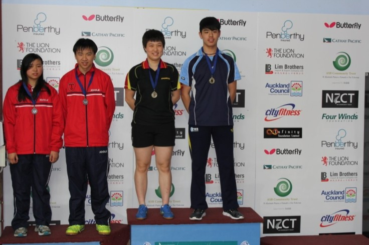 Under 21 Mixed Doubles.Hui-Ling Vong, Chun-Kiet Vong (Silver), Guiting Lu, Victor Ma (Gold).