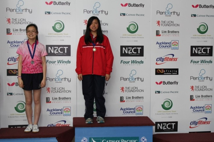 Women's B Grade Singles. Maggie Ngo (Silver), Hui-Ling Vong (Gold).