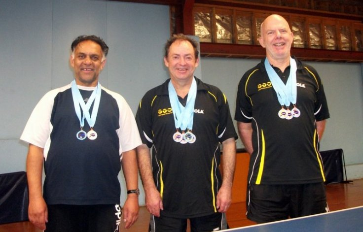 Wellington Medalist at 2015 NZ Veterans - Depak Patel, Lindsay Ward and Ian Talbot