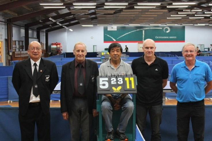 Malcolm Wong (Referee) and some of the Umpires - Robert Dunn, Pat Low, Ebi Kleiser and Kerry McGeehan.