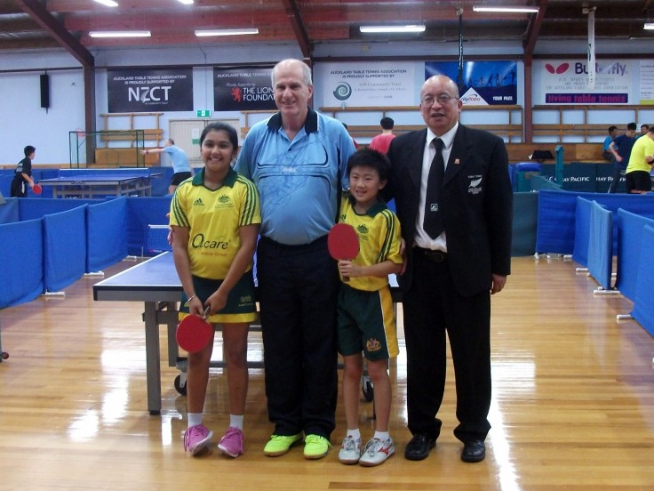 Australian Team – Parleen Kaur, David Lowe (Coach), Isaiah Lee and Malcolm Wong (Referee).