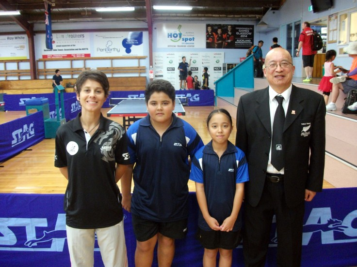 New Caledonia Team – Cathy Gauthier (Coach), Alexandre Faure, Lorie La and Malcolm Wong (Referee).