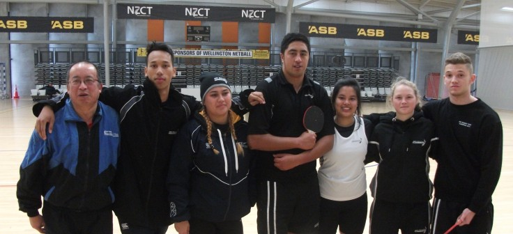 Malcolm Wong (Umpire) and Mixed Doubles players Devoe Papata & Elvina Waipoun-Siale (Auckland), Manutai Hira & Nella Galang (Wellington) and Arna Roberts & Albert Stanciu (Christchurch).