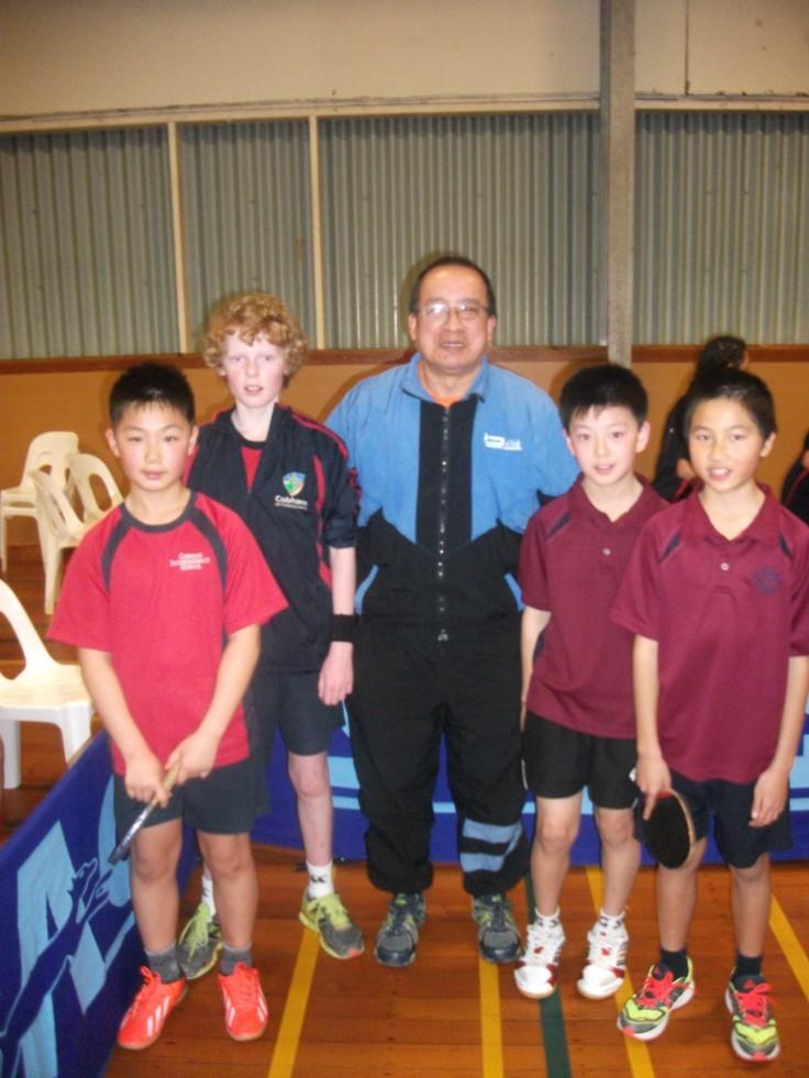 Aims Game Boy's Doubles Finalist.  Silver - Sang-Yong Park, Zakery McKellar (Cobham Intermediate),  Malcolm Wong (Umpire), Gold - Nathan Xu, Thomas Liang (Wairau Intermediate).