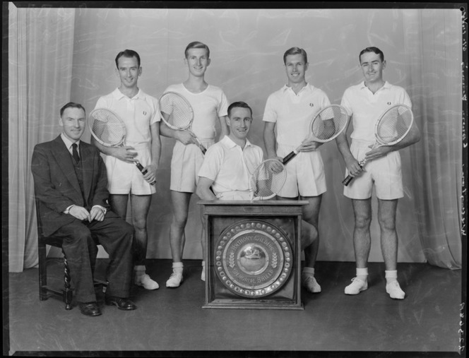 1955 Wellington Tennis Men's Team.