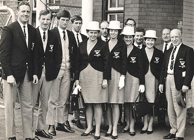 1967 NZ Table Tennis Team visiting a factory in England.