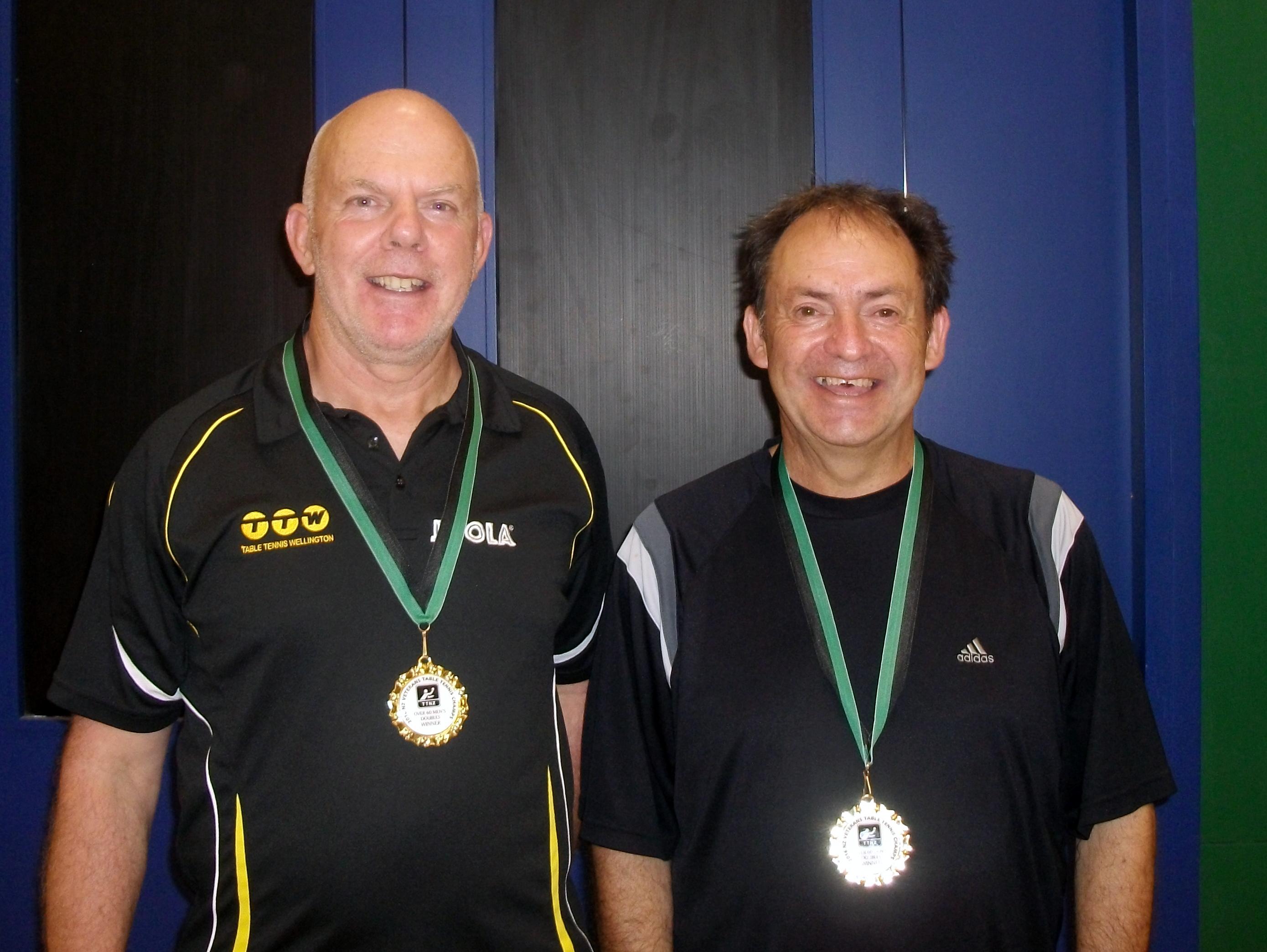 Ian Talbot & Lindsay Ward NZ Vets O60 MD Winners