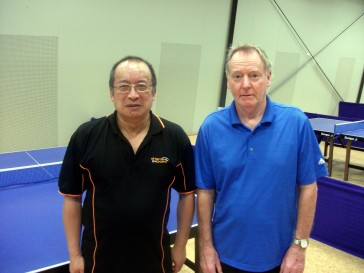 Nelson Open Over 50 and 60 Doubles winners Malcolm Wong & Mark Nalder.