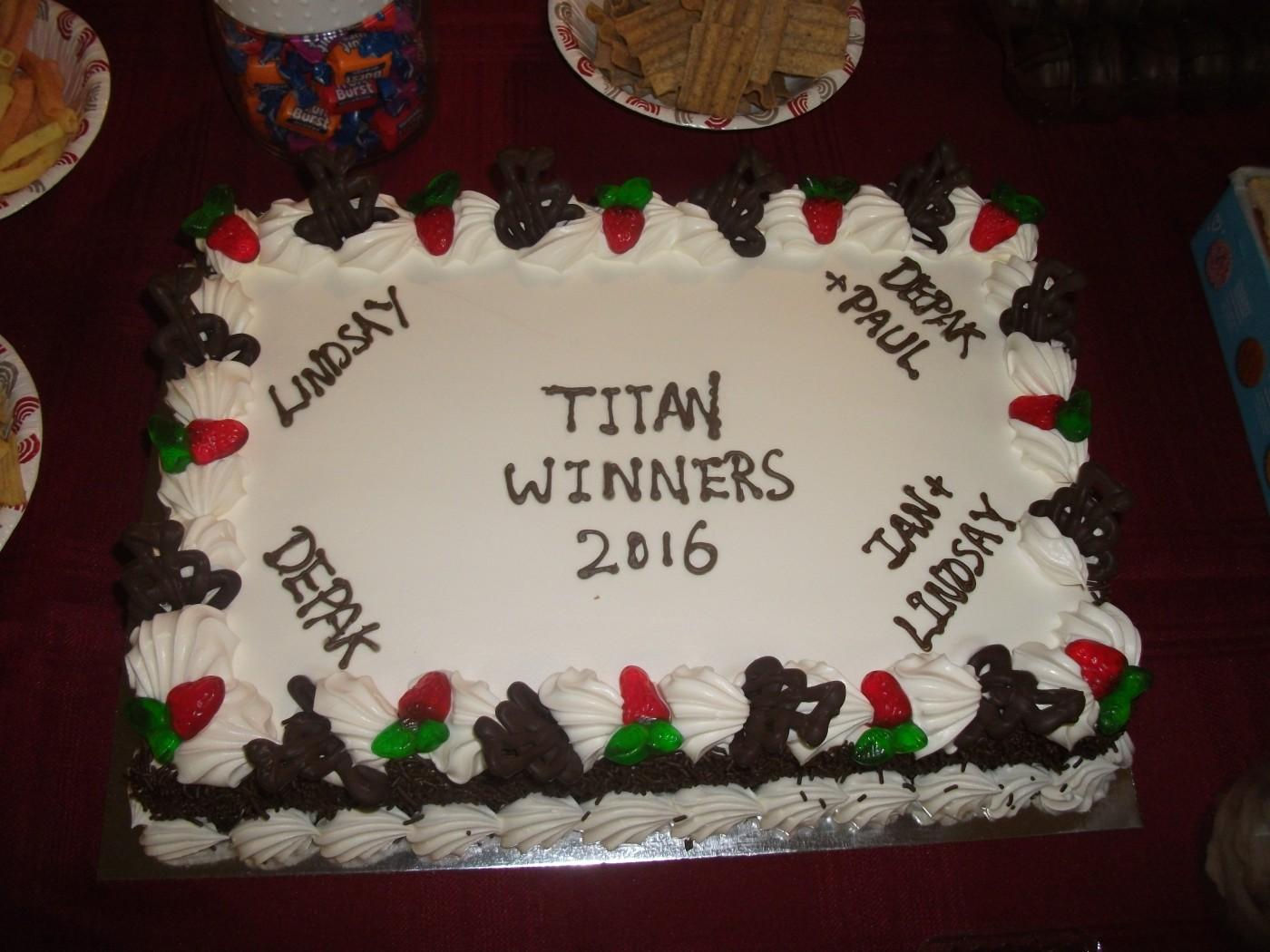 Titan 2016: Cake at Titan Club breakup.