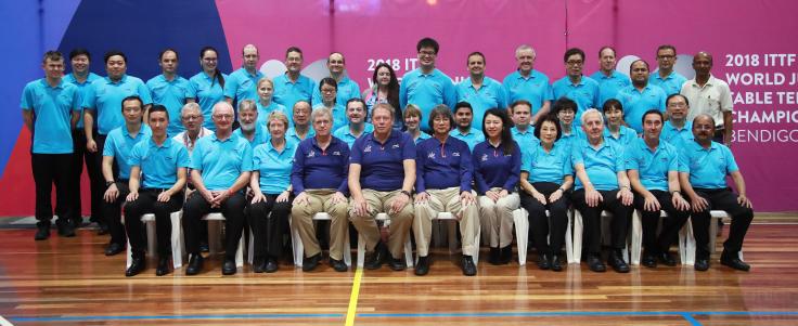 Officials Photo - 2018 World Junior Table Tennis Championships (Bendigo, Australia) 2-9 December